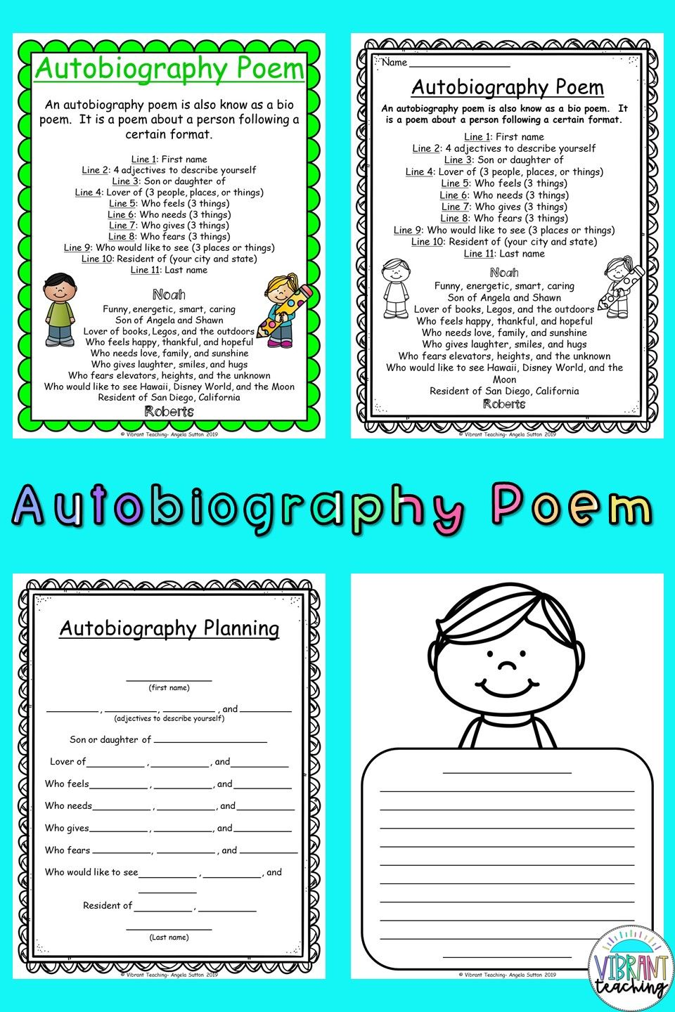Autobiography Poems For Kids In 2020 Poem Activities Poetry For Kids Poetry Writing Activities