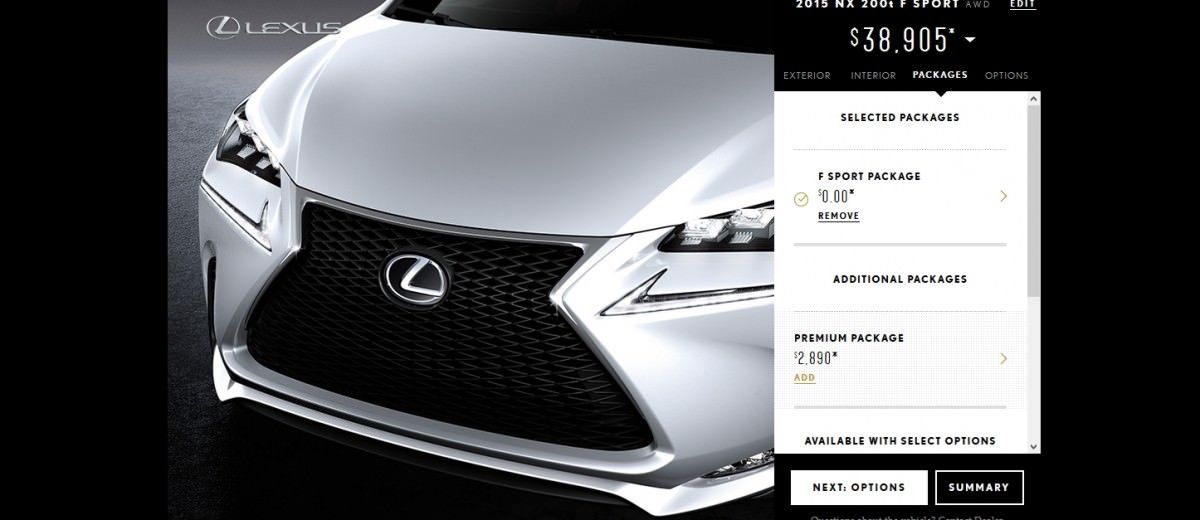 2015 Lexus NX Colors, Trims and Cabin Visualizer + Prices