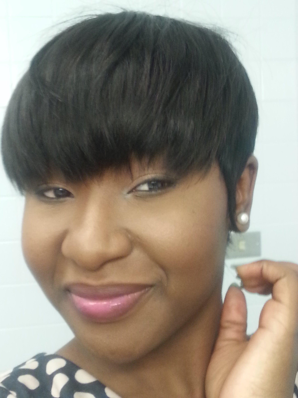 Mushroom Hairstyle favorite mushroom hairstyle for black women 27 Pieces Quickweave Tutorial Bowl Mushroom Cut