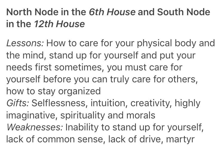 North Node In The 6th House And South Node In The 12th House Natal Charts Sidereal Astrology Astrology