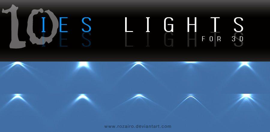 IES lights - for 3D by Rozairo deviantart com on @DeviantArt