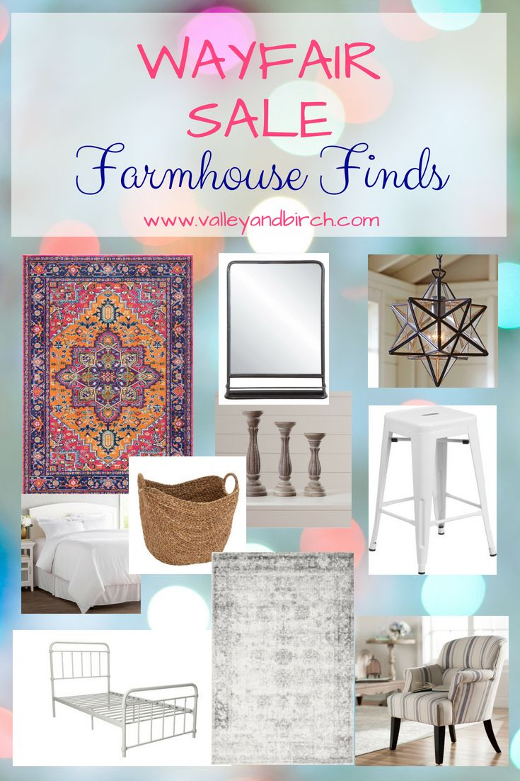 Great deals on farmhouse home decor from Wayfair's big