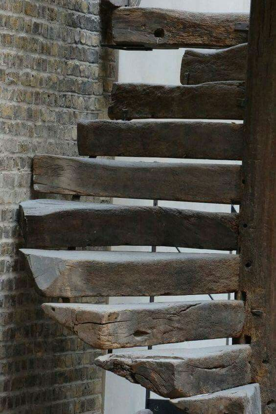Amazing raw #wood steps (recycled railroad ties)  ~ETS