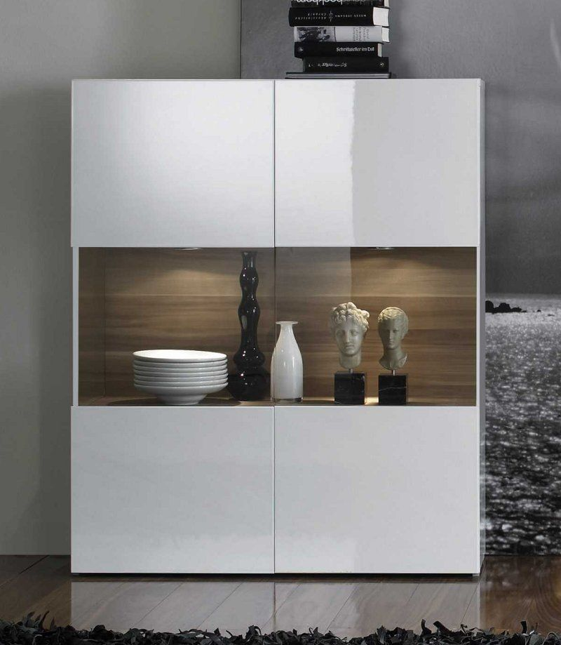 Genial highboard weiß hochglanz 100 cm in 2019 | Highboard ...
