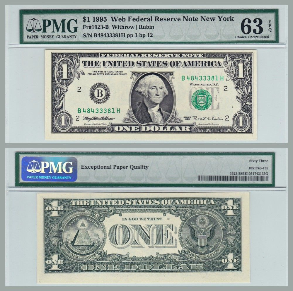 1981 A $5 San Francisco District Federal Reserve Note FR 1977-L Uncirculated