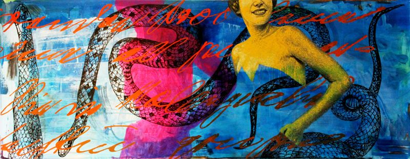 "Clic to enlarge  : ""les vilains serpents de Emy von R"" / painting"