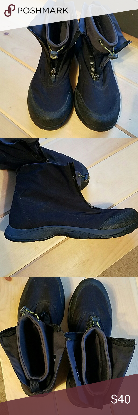 Woman's LLBEAN boots Very well made. Lightweight. Built in liners with zip up front. Nothing wrong with these. L.L. Bean Shoes Winter & Rain Boots