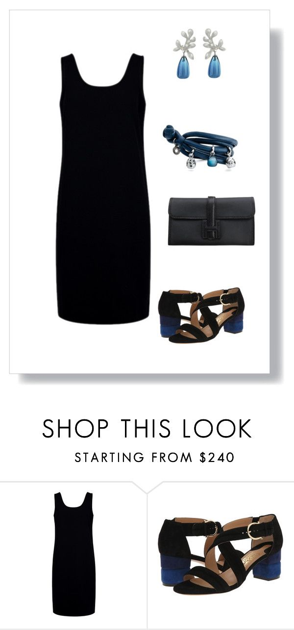 """""""#41"""" by cindrof on Polyvore featuring Mode, Être Cécile, Salvatore Ferragamo, Ole Lynggaard und Hermès"""