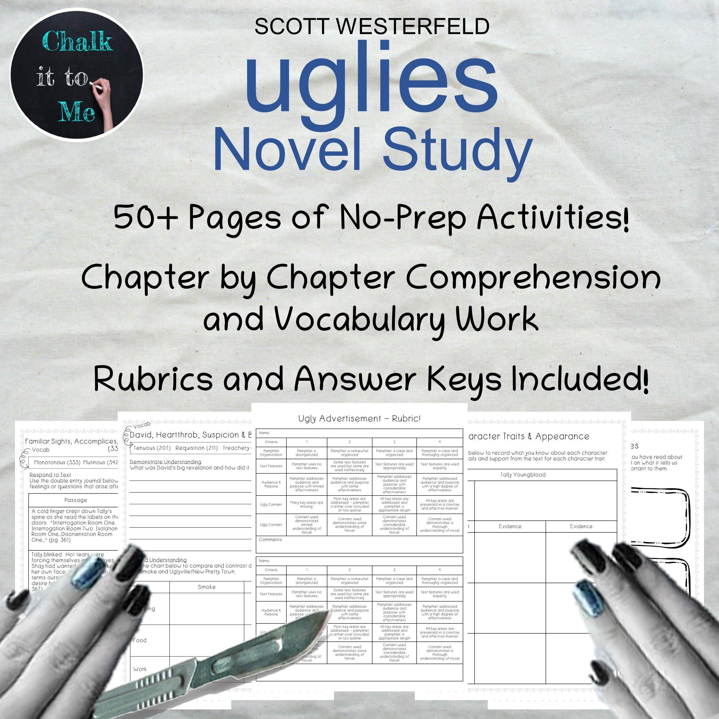 Uglies By Scott Westerfeld Novel Study In