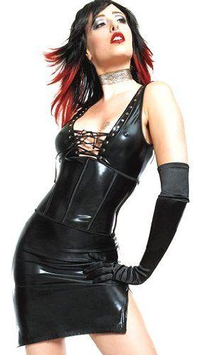 black rubber look lace up dress products i love pinterest. Black Bedroom Furniture Sets. Home Design Ideas