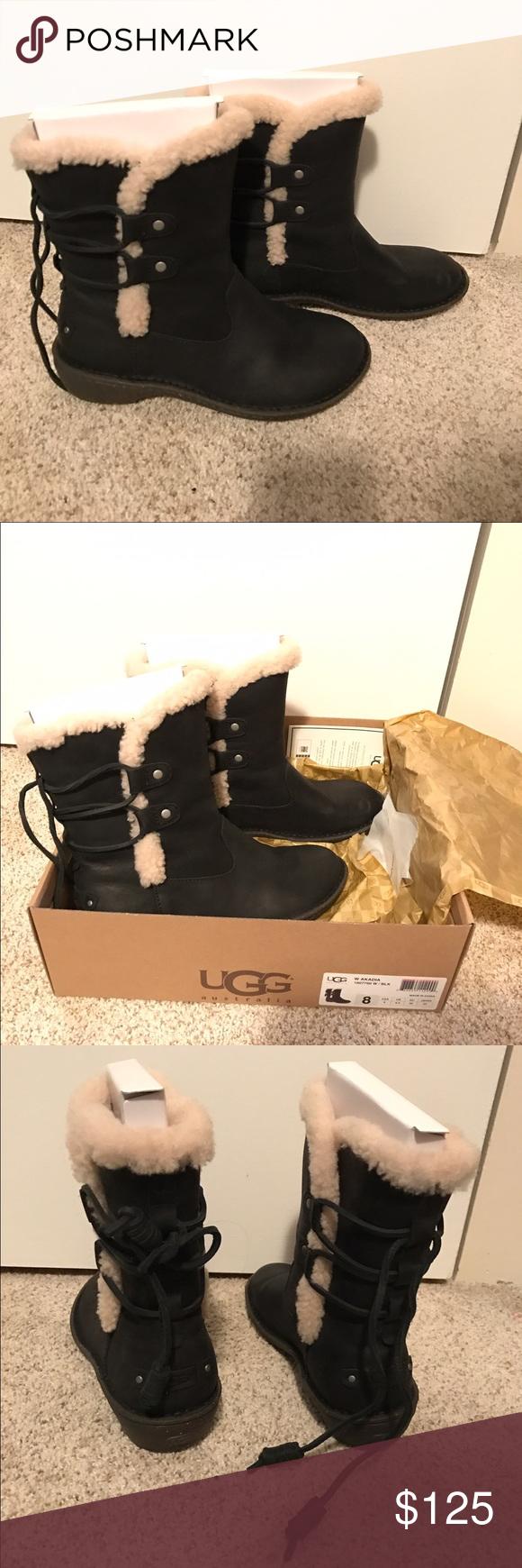 e5bdcf28969 UGG Akadia sheepskin lace-up boot UGG Australia Akadia genuine ...
