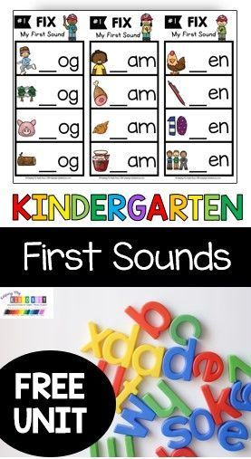 PHONICS FIRST SOUNDS KINDERGARTEN lessons and activities - printables