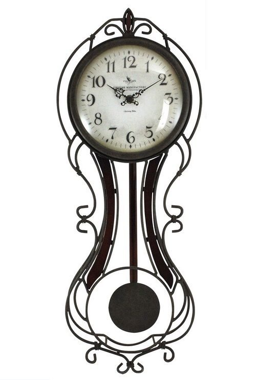 Firstime Manufactory 24 In H Fleur Pendulum Wall Clock 00176 By First Time Manufactory For 59 99 In Potpourri Accesso Wall Clock Clock Pendulum Wall Clock