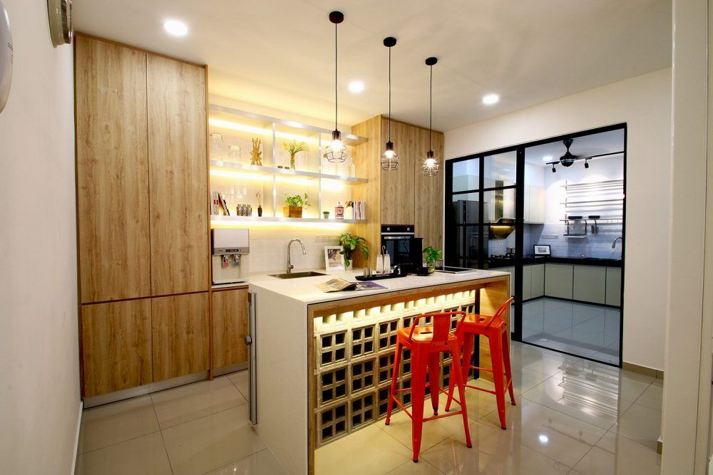 14 Wet And Dry Kitchen Design Ideas In Malaysian Homes Recommend Living Simple Kitchen Design Modern Kitchen Cabinet Design Kitchen Designs Layout