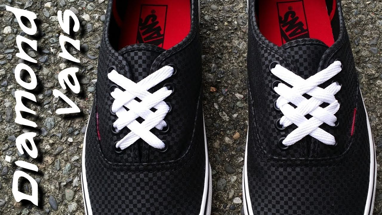 ♢♢♢♢♢How to Diamond lace Vans♢♢♢♢♢  12fe7a3ea