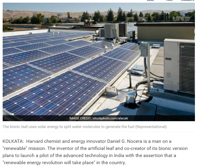 India Headed For A Green Energy Revolution Harvard Scientist Harvard Chemist And Energy Innovator Daniel Flat Roof Systems Solar Panels For Home Flat Roof