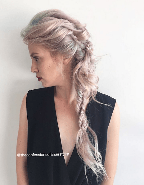 How to hair girl real confessions of a hairstylist words with soft curls and a few hidden braids is the perfect way to wear braids for any formal occasion this style was done on for my last updo class i taught with my ccuart Choice Image