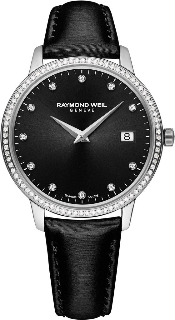 @raymondweil  Watch Toccata #bezel-diamond #bracelet-strap-leather #brand-raymond-weil #case-depth-7mm #case-material-steel #case-width-34mm #date-yes #delivery-timescale-call-us #dial-colour-black #gender-ladies #luxury #movement-quartz-battery #official-stockist-for-raymond-weil-watches #packaging-raymond-weil-watch-packaging #style-dress #subcat-toccata #supplier-model-no-5388-sls-20081 #warranty-raymond-weil-official-2-year-guarantee #water-resistant-50m