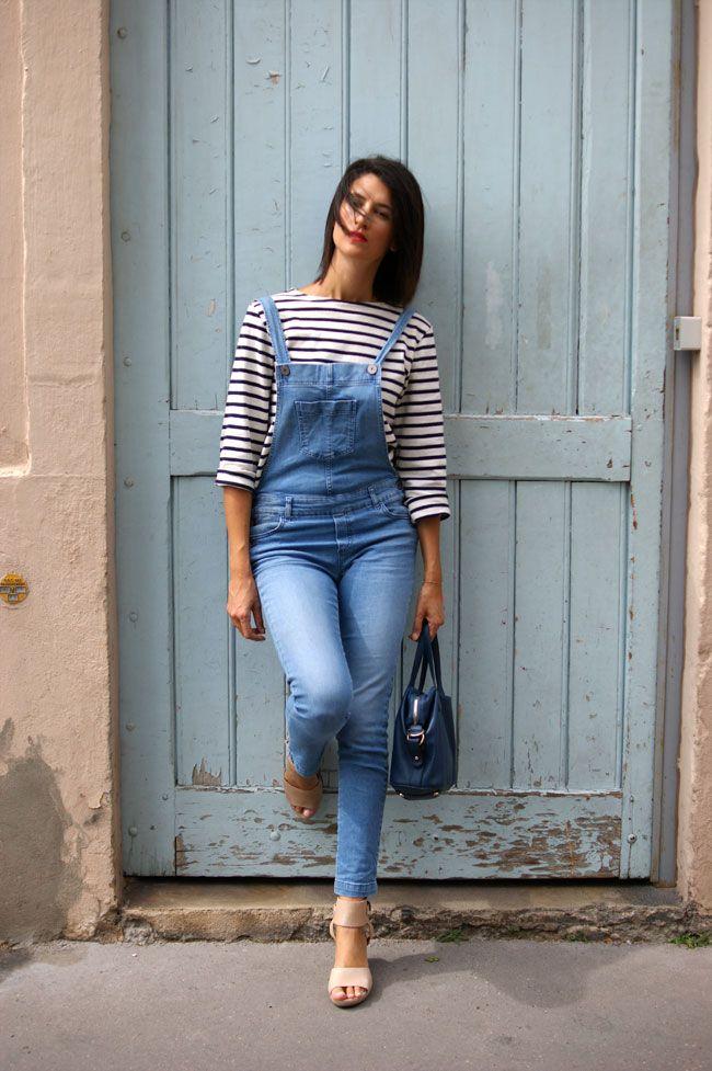 salopette slim en jean #sessun #skinny #denim
