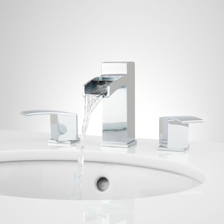 Morata Widespread Waterfall Bathroom Faucet | Waterfall bathroom ...