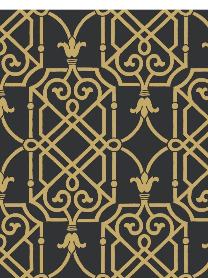 A Metallic Geometric Lattice Makes A Striking Wallcovering