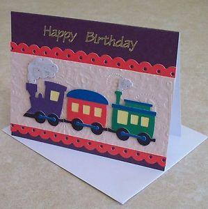 Handmade Birthday Card For Boys Train