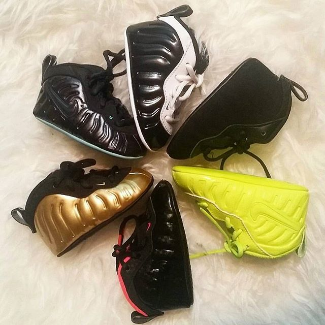 curry gold shoes nike baby foamposite