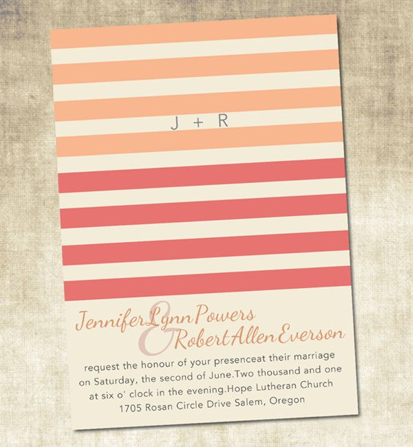 Coral Colored Wedding Invitations: The Hottest Colors For Wedding Invitations 2014 Trends