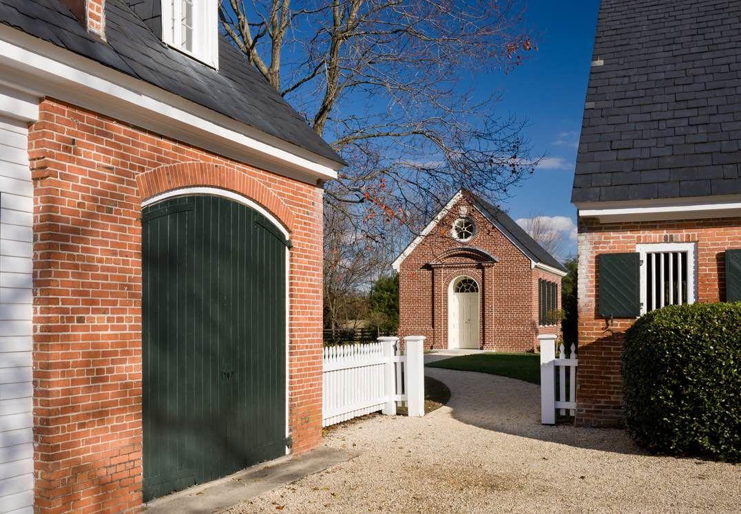 Image result for panel shutters in brick niche Garage
