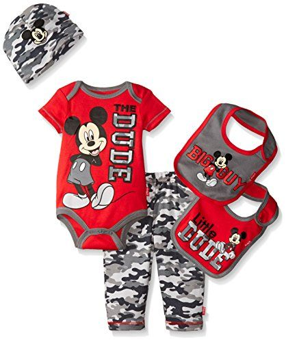 4d20c1ee6b30 Disney Baby Mickey Mouse 5 Piece Layette Box Set Red 06 Months ...