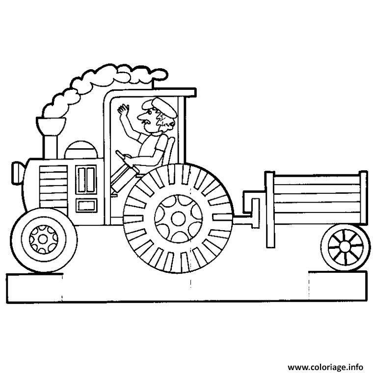 Coloriage Tracteur Avec Remorque Coloriage Tracteur Coloriage