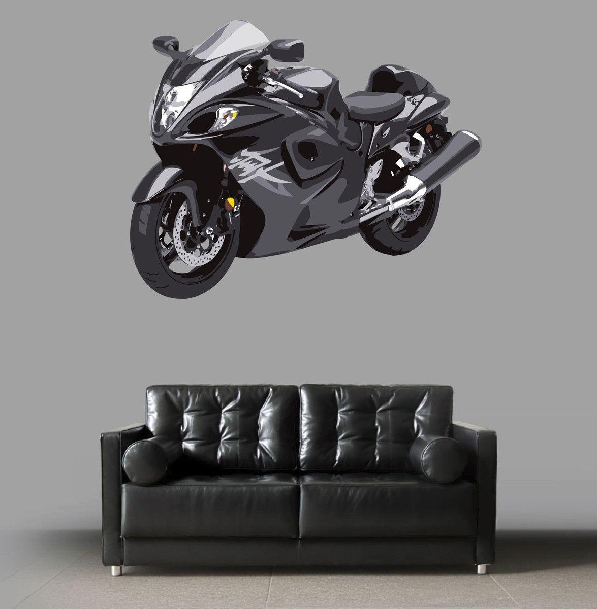 cik58 Full Color Wall decal motorcycle racing speed strength bedroom living room for teens