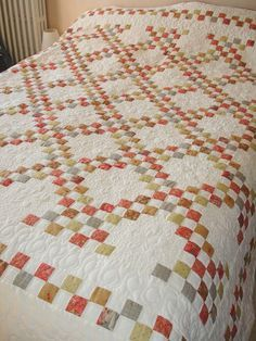 Irish Chain With Checkerboard Borders Quilts Traditional Quilts Irish Chain Quilt