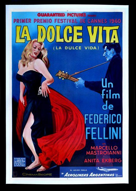 La Dolce Vita Classic Movie Posters Wall Art Framed Movie Cinema