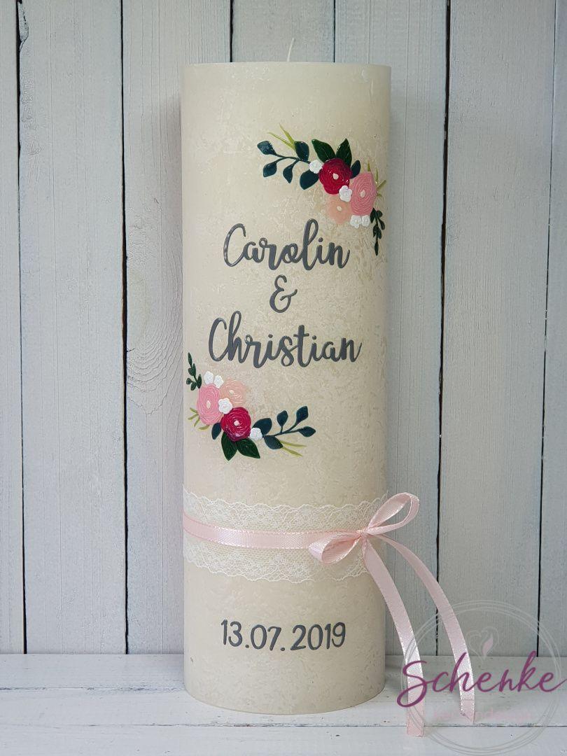 Hochzeitskerze, Hochzeit Traukerze, Trauung, bruiloft, huwelijk, huwelijkskaars, huwelijkskaarsen, kaarsen, Rustik-Kerze, rustik, rustic, rustikal