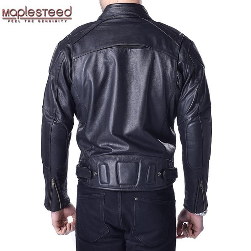 Maplesteed Motorcycle Jacket Men 100 Genuine Cowhide Skin Leather Black Thick Bomber Moto Biker Motor Clothing Winter Coat 153 In 2021 Motorcycle Jacket Mens Leather Jacket Men Leather Jacket