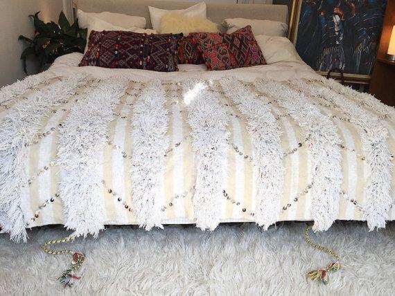 vintage Handira blanket,Moroccan Bedspread 25/%OFF* Moroccan wedding blanket 6,1x3,6ft