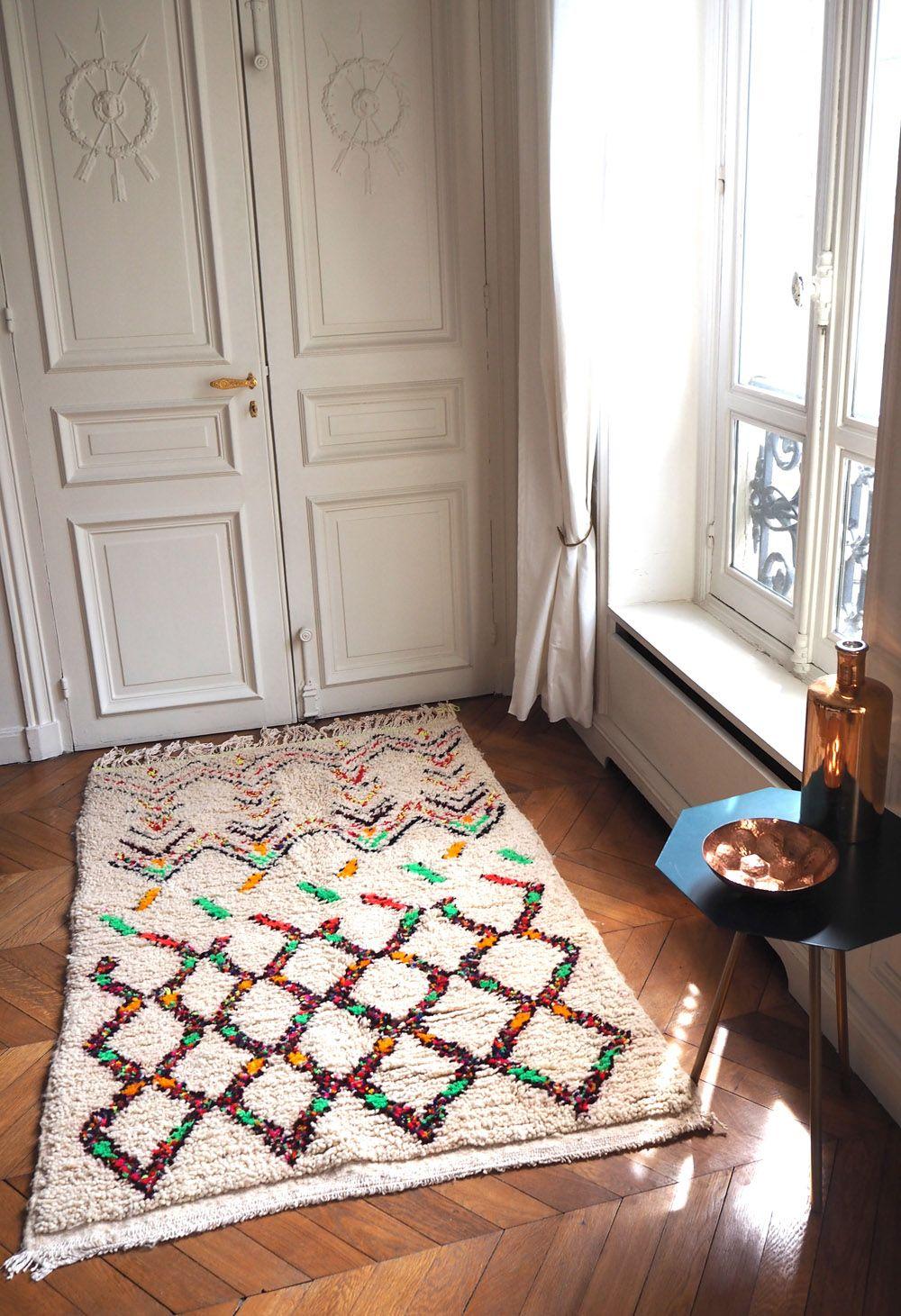 Les Tapis Azilal Sont Traditionnellement Des Pieces Anciennes Et Uniques Ils Datent Des Annees 60 80 Et Proviennent De Tapis Azilal Tapis Decoration Classique