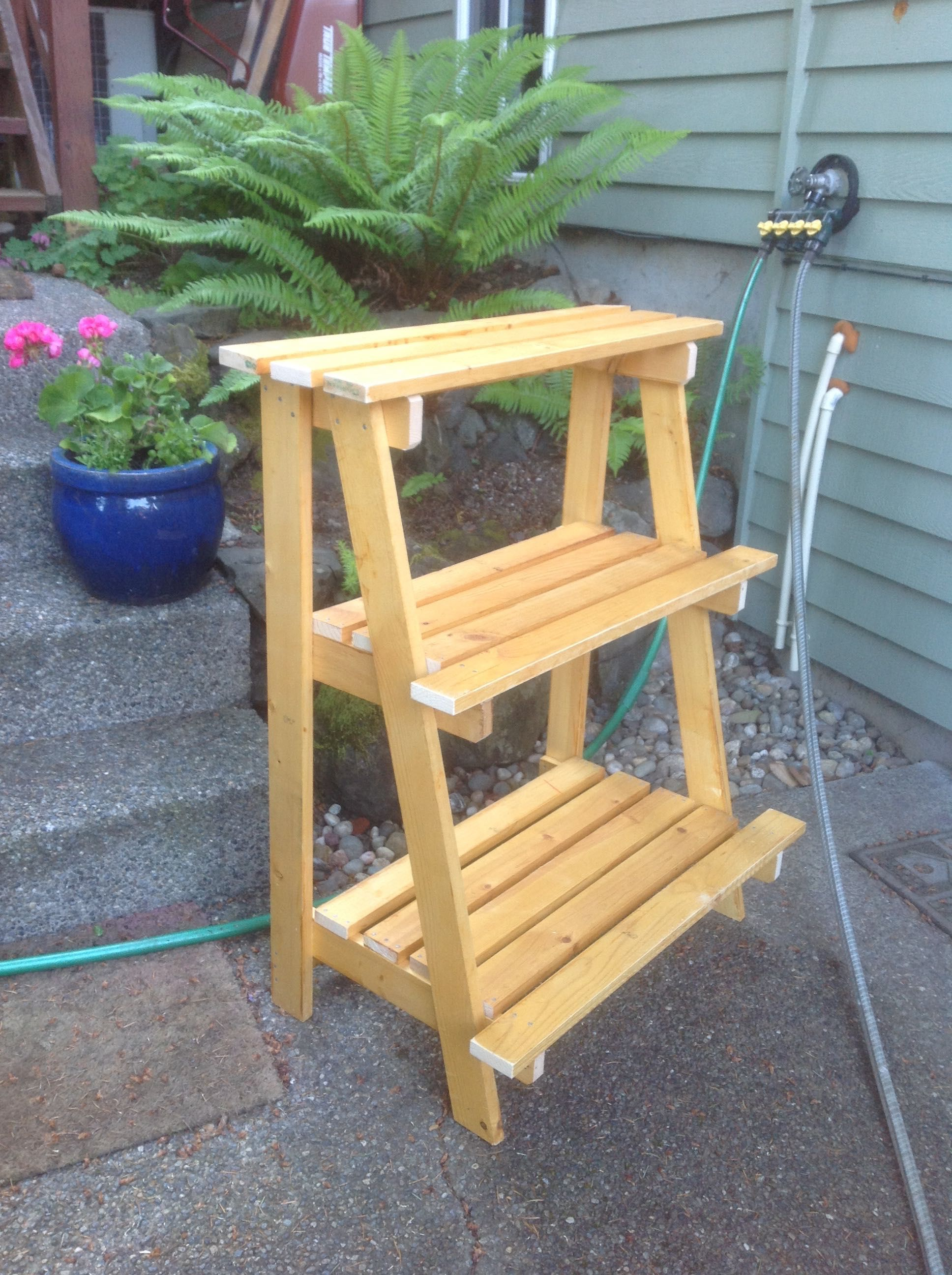 Outdoor Plant Stand Yard Art Deck Planter Stand Made By Roxanne
