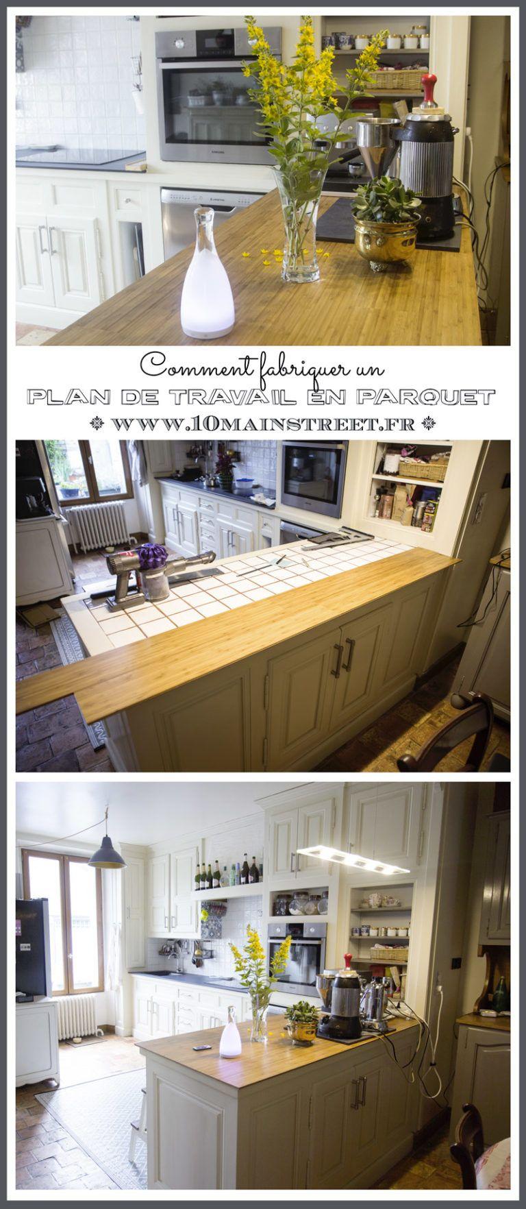 Cuisine phase 3.2 : un plan de travail en parquet bambou | Pinterest ...