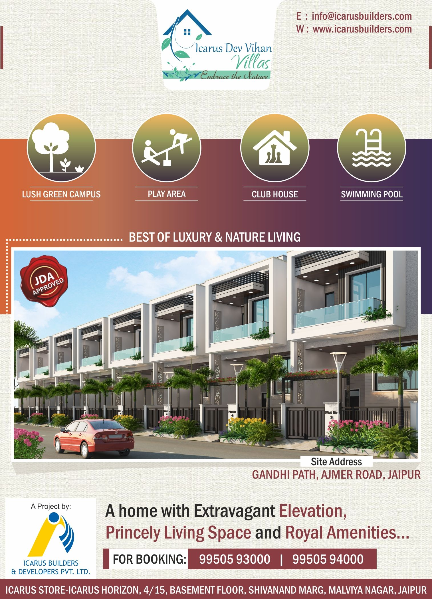 Most Luxury Most Affordable Icarus Dev Vihan Villas At Vaishali Nagar Jaipur Villa Luxury Villa Swimming Pools