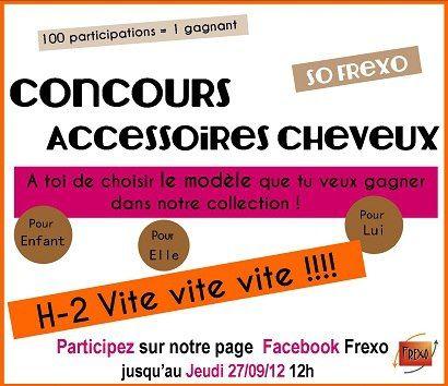 H-2 !!!!! Vite on participe à notre concours ici : http://www.facebook.com/frexo.fr