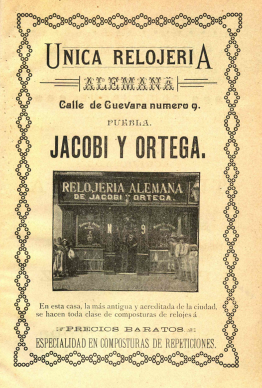 Relojería Alemana Primer Almanaque Histórico Y Directorio General De Puebla Por Luis F Covarrubias Ed Ben R 529 4 Alm C Docencia Biblioteca Instituto