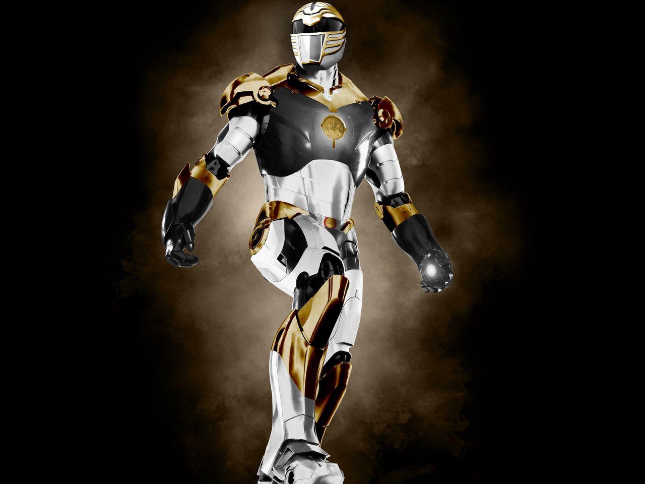 "Mighty Morphin ""Iron White Tiger"" Power Ranger! | Power ..."
