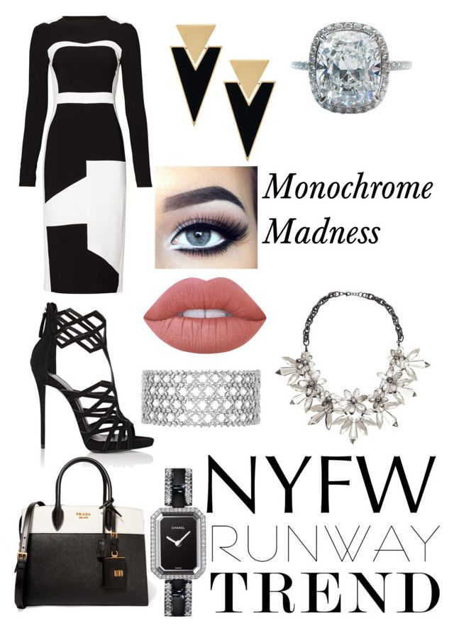 """New York Fashion week"" by sophisticatedfashion ❤ liked on Polyvore featuring Antonio Berardi, Giuseppe Zanotti, Prada, Yves Saint Laurent, John Lewis, Harry Winston, Chanel and Lime Crime"