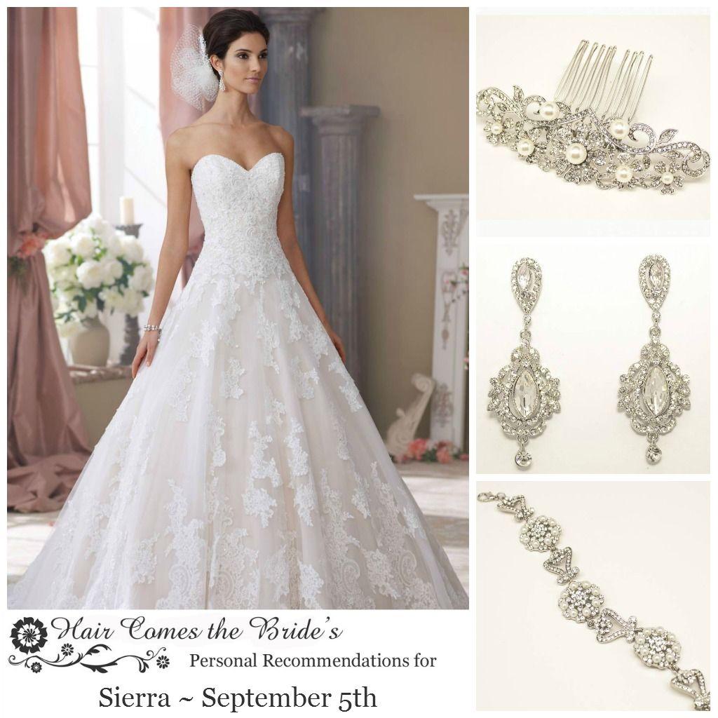 Bridal hair accessory u jewelry ideas for david tutera dress