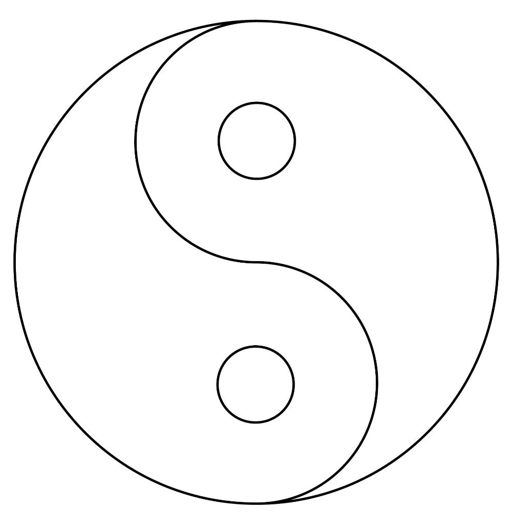 Yin Yang Coloring Pages Template Yin Yang Designs Yin Yang Art Abstract Coloring Pages