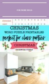 Christmas word puzzle print templates perfect for class parties  Nest of Posies