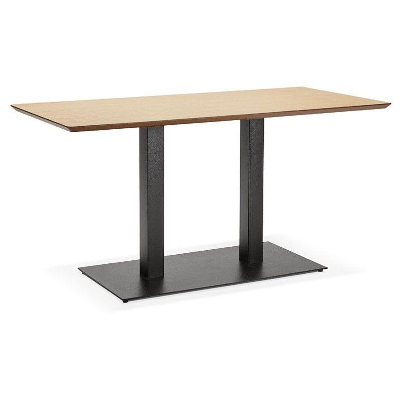 Table A Manger Design Ou Table De Reunion Kenza 150x70x75 Cm Finition Chene Naturel Mdf Sala De Jantar Jantar
