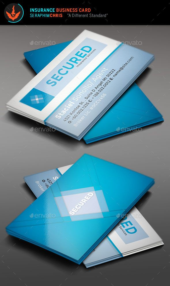 Secured: Insurance Business Card Template | Insurance business, Card ...